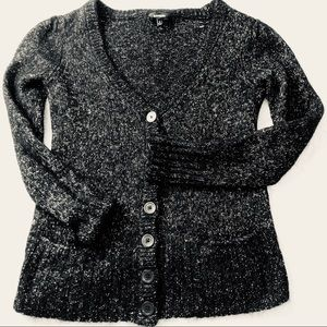 Express Black and silver cardigan with shimmer